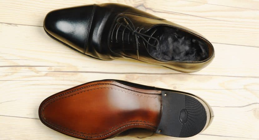 leather soled mens shoes