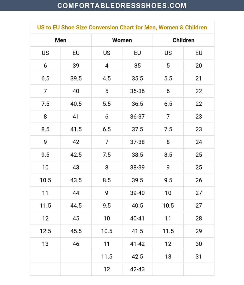 Men S Us Shoe Size To Women S.Shoe Size Conversion Charts For Men And Women