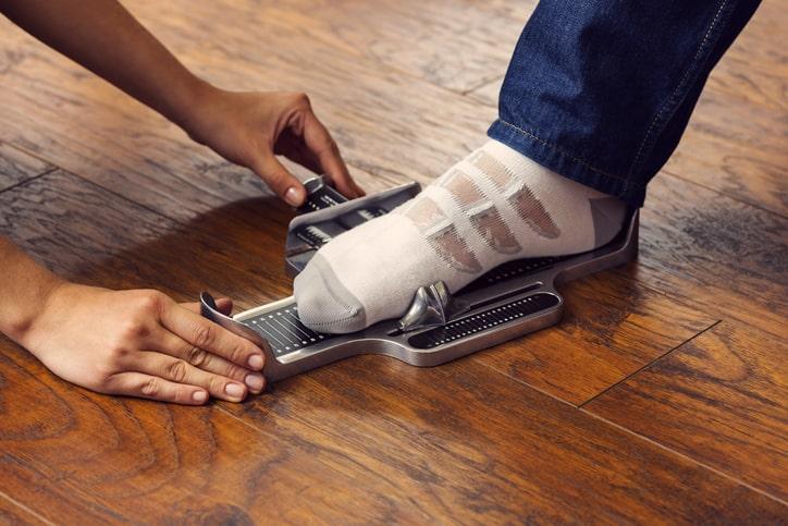 Brannock foot measure